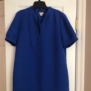 J crew dress-royale blue